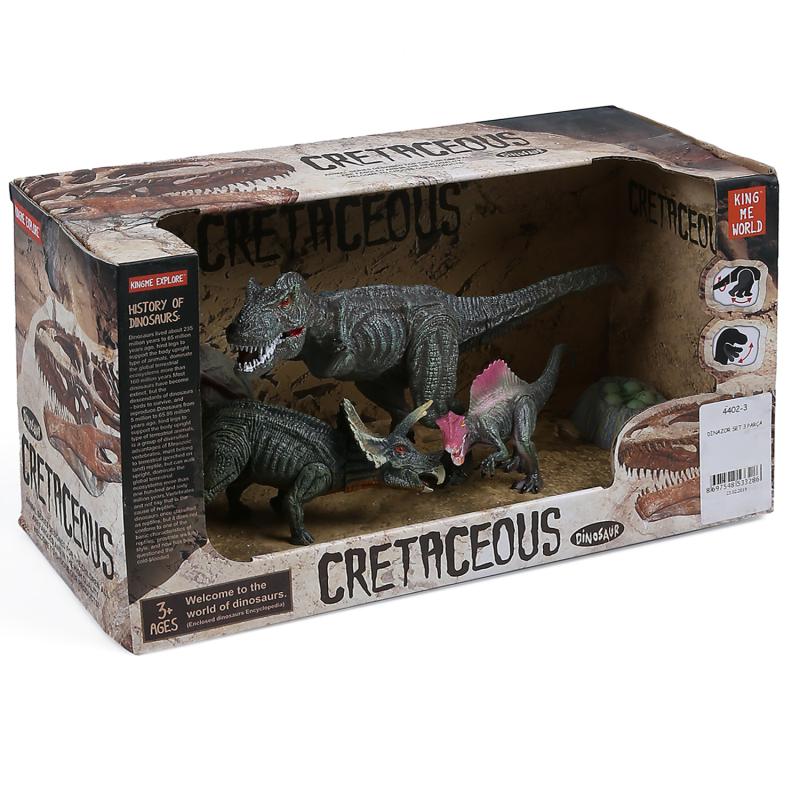 Dinazorlar Hayvan Figür Trex Cretaceous 3'lü Set